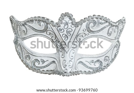 Carnival mask. Isolated on white. - stock photo