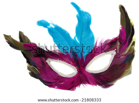 Carnival mask isolated over the white background