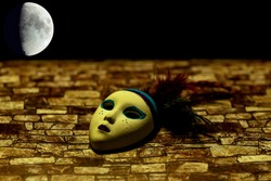 Carnival mask under moon light (miniature)