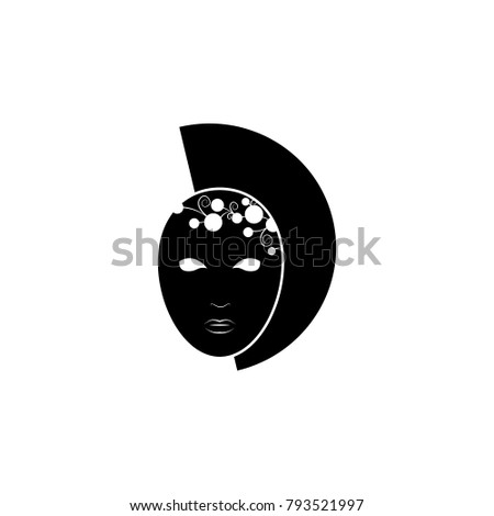 Carnival mask with a pattern icon. Carnival element icon. Premium quality graphic design icon. Baby Signs, outline symbols collection icon for websites, web design, mobile on white background