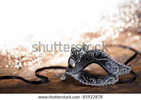 carnival mask with glittering background Stock photo ©