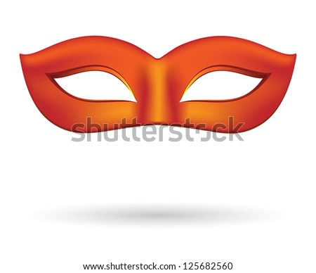 Carnival masks in red