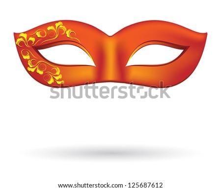 Carnival masks in red