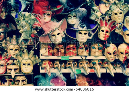 Carnival masks in Venezia