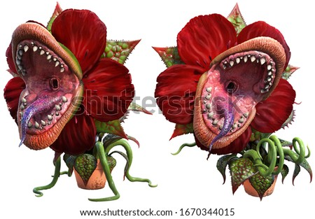 Carnivorous plant about to attack Сток-фото ©