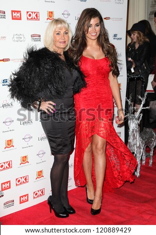Carol and Jessica Wright arriving for the OK Magazine Christmas Party, Sway, London. 27/11/2012 Picture by: Alexandra Glenl - stock photo