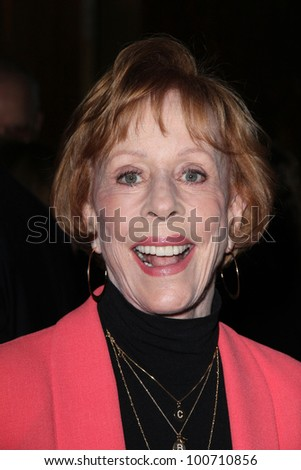 Carol Burnett at the 49th Annual Publicists Awards Luncheon, Beverly Hilton, Beverly Hills, CA 02-24-12