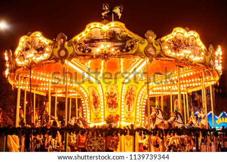 carousel at night #1139739344