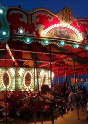 carousel at night carnival lights