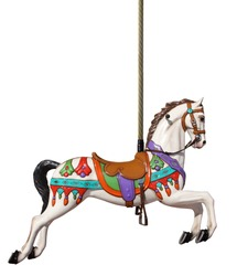 carousel horse with pole