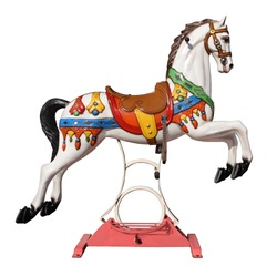 carousel horse with stand