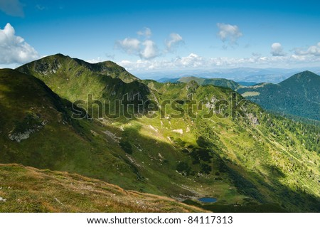 Carpathian mountains: Beautiful landscape in summer. Large resolution