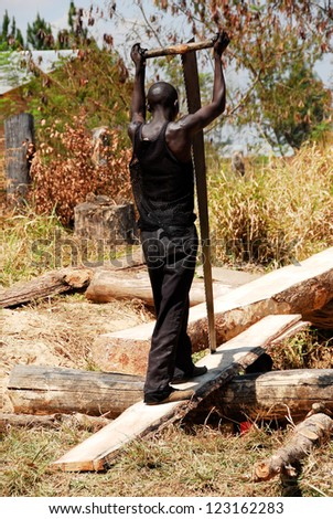 Carpenter in Northern Zambia