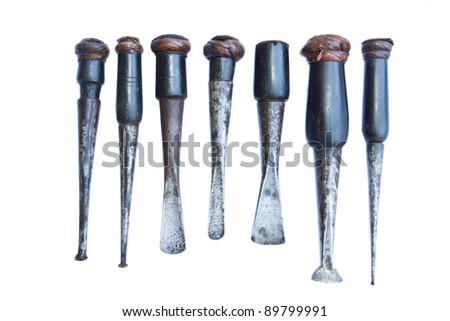 carpenter tool isolated white Stock fotó ©