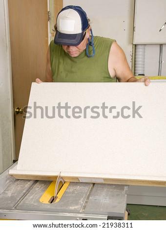 cutting laminate table saw 2
