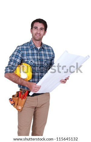 Carpenter with plans