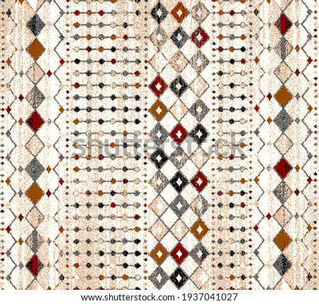 Carpet bathmat and Rug Boho Style ethnic design pattern with distressed texture and effect  Stock photo ©