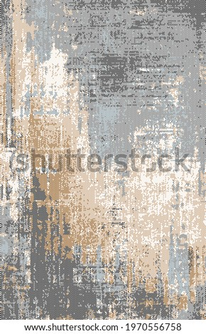 Carpet bathmat and Rug Boho Style ethnic design pattern with distressed woven texture and effect  Stockfoto ©