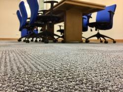 Carpet floor in the meeting room, selects focus on the floor.