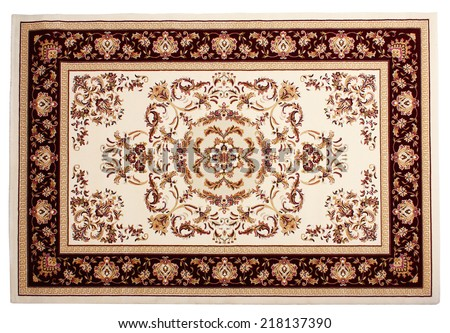 Carpet from wool and silk of classical design