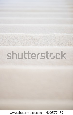 Carpet stair in residential house - Image stock photo