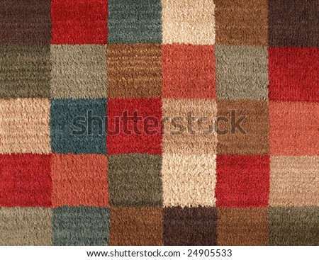 Carpet Texture Multiple Color Square in Pattern