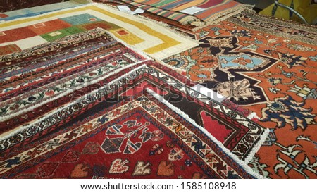 carpets background on the floor multicolored for background