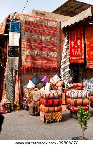 Carpets for sale in Marrakech, Morocco