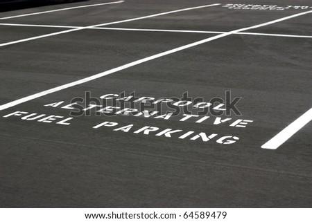 Carpool Alternative Fuel Parking space on new parking lot