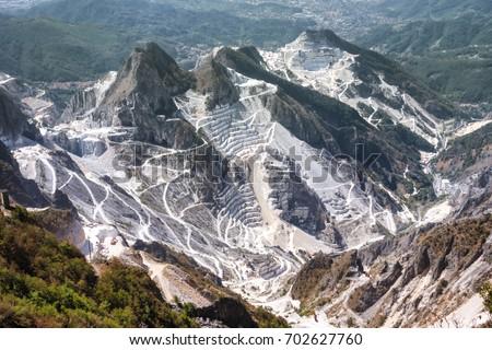 Carrara marble quarries, Tuscany, Italy