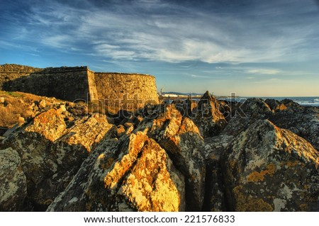 Carreco fortress in Viana do Castelo, Portugal