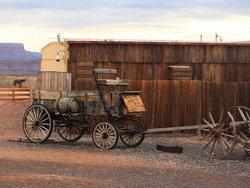 carriage cart in the old west