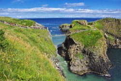 Carrick-a-Rede Rope Bridge, Northern Ireland, UK