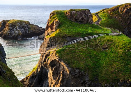 Carrick-A-Rede Rope in Northern Ireland Foto stock ©