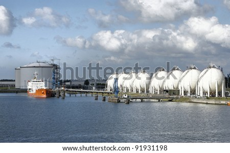 Carrier ship and oil  gas factory