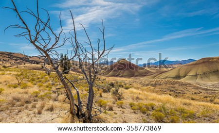 Carrol Rim trail, Painted Hills, John Day Fossil Beds National Monument, Oregon