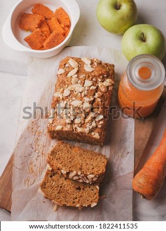 carrot cake made from carrot pulp juice. easy way to use leftover pulp carrot juice is to make it as cake