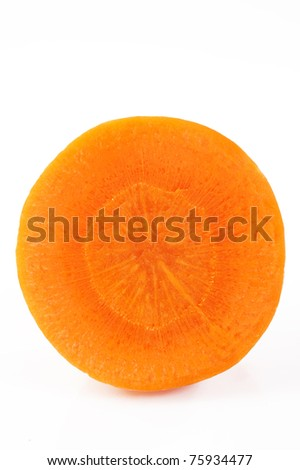 carrot core on white background