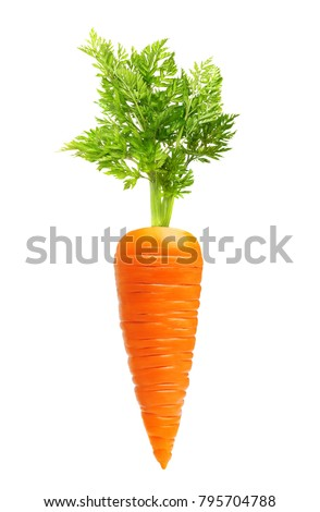 Carrot isolated on white background #795704788