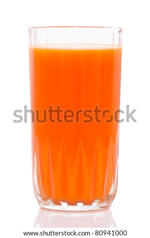 Carrot Juice. Isolated with clipping path.