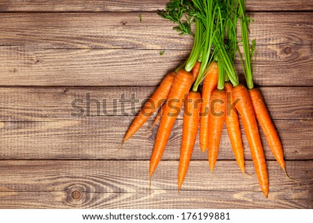 Carrot on a wooden table