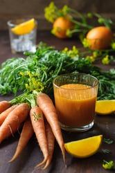 Carrot Orange Immune Boosting Smoothie. Detox Drink