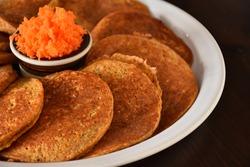 Carrot protein pancakes.