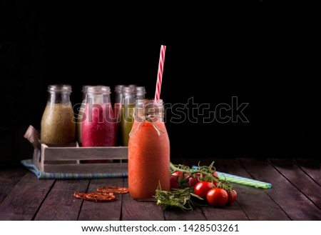 carrot smoothie isolated healthy drink sport drink summer drink