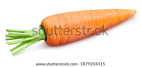 Carrot vegetable isolate. Carrot whole on white. Carrot clipping path. High End Retouching