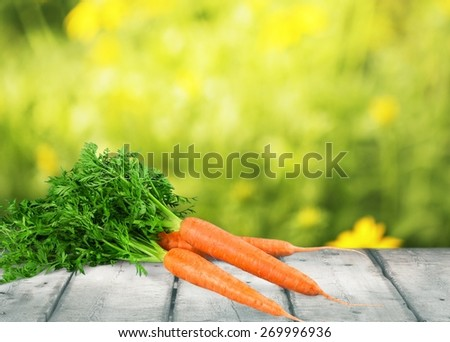 Carrot, white, background.