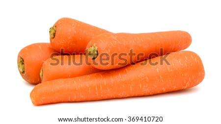 Carrots isolated on white background ストックフォト ©