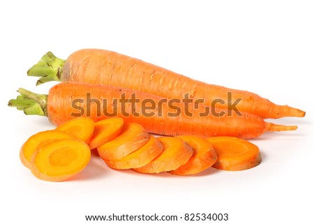 Carrots on white background