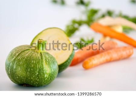 Carrots, parsley, zucchini Raw Food