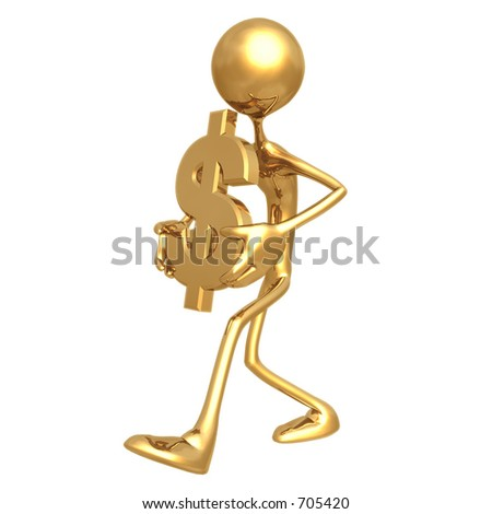 Carry Dollar Symbol 01 - stock photo